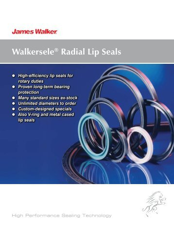 Walkersele® Radial Lip Seals - James Walker