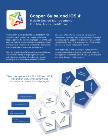 Casper Suite and iOS 4: - JAMF Software
