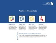 JAMF Software Feature Checklists
