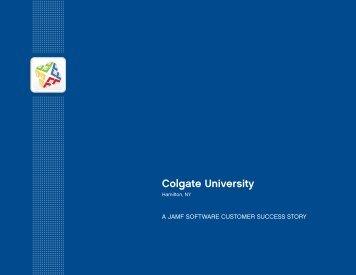 Colgate University Case Study - JAMF Software