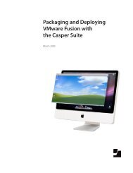 Packaging and Deploying VMware Fusion with the ... - JAMF Software