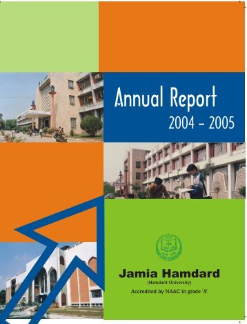 Jamia Hamdard Annual Report2005 Final 1