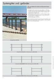 PRÜNTE: Urbanes Mobiliar - Systemgitter und -geländer