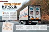 Unsaubere Methoden - transportreport.de