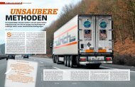 Unsaubere Methoden - transportreport.de