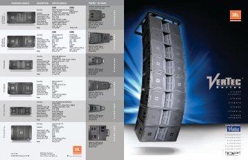 VerTec Line Brochure - JBL Professional