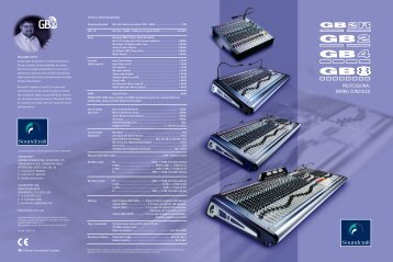 Soundcraft GB Series Brochure