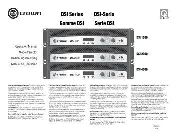 DSi Series Gamme DSi DSi-Serie Serie DSi - Jands