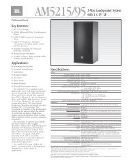 AM5215/95 Spec Sheet - JBL Professional
