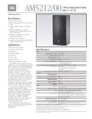 AM5212/00 2-Way Loudspeaker System with 1 x ... - JBL Professional