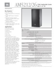 AM5212/26 Spec Sheet - JBL Professional