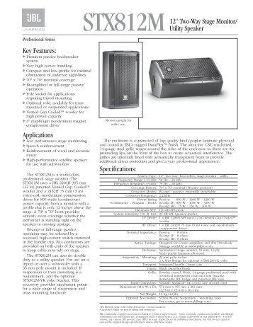 STX812M - JBL Professional