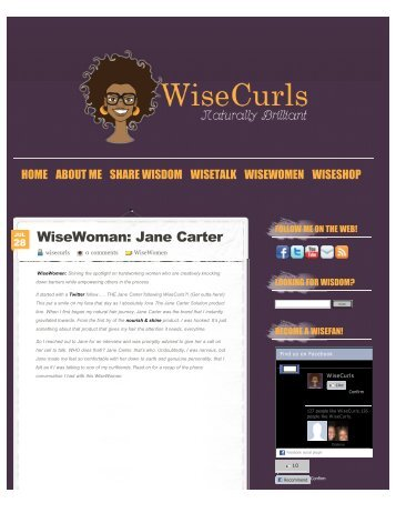 | WiseWoman: Jane Carter - Jane Carter Solutions