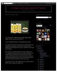Cynde Watson Beauty Blog: