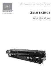 CSM-21 & CSM-32 - JBL Commercial Products