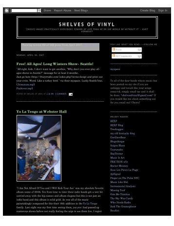 SHELVES OF VINYL - Jane Carter Solutions