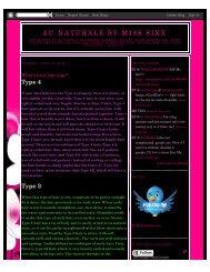 Au Naturale by Miss Sixx: April 2009 - Jane Carter Solutions