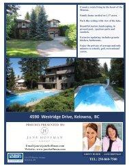 4590 Westridge Drive, Kelowna, BC - Jane Hoffman