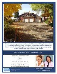 1225 McKenzie Road - KELOWNA, BC - Jane Hoffman