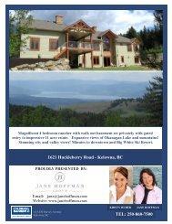 1621 Huckleberry Road - Kelowna, BC - Jane Hoffman