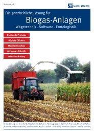 Biogas-Anlagen - Janner Waagen GmbH