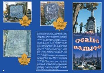 nym szacunkiem janowski cmentarz, który od po³owy XIX w. jest ...
