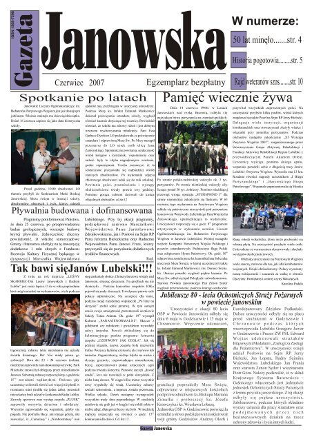 Czerwiec Gazeta Um Janã³w Lubelski