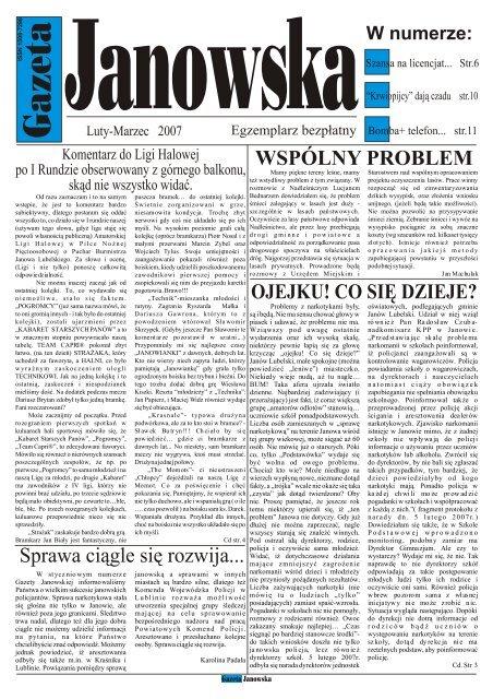 Luty Gazeta Um Janã³w Lubelski