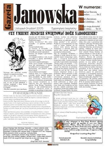 Listopad-Grudzień 2005 - UM Janów Lubelski