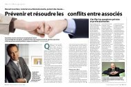 Prévenir et résoudre les conflits entre associés - Janson Baugniet