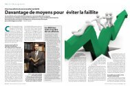 Davantage de moyens pour éviter la faillite - Janson Baugniet