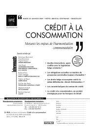 CRÉDIT À LA CONSOMMATION - Janson Baugniet