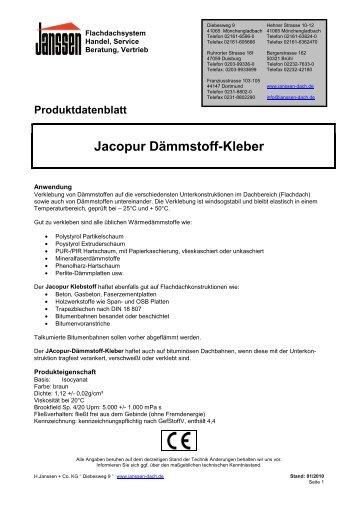 Jacopur Dämmstoff-Kleber - H. Janssen & Co. KG