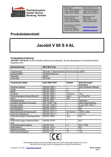 Produktdatenblatt Jacobit V 60 S 4 AL - H. Janssen & Co. KG