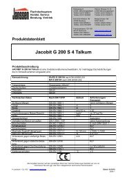 Produktdatenblatt Jacobit G 200 S 4 Talkum - H. Janssen & Co. KG