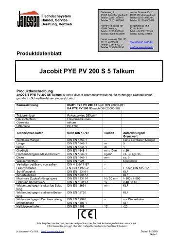 Jacobit PYE PV 200 S 5 Talkum - H. Janssen & Co. KG