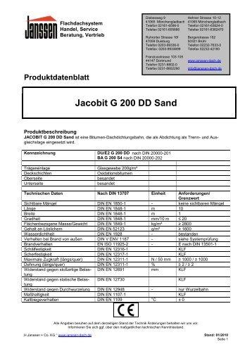 Jacobit G 200 DD Sand - H. Janssen & Co. KG
