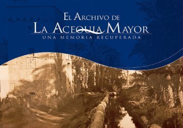 Folleto Acequia Mayor - castellano