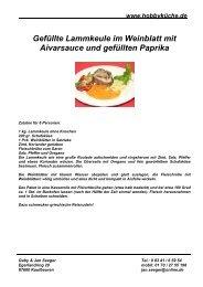 Gefüllte Lammkeule im Weinblatt mit Aivarsauce ... - Janundgaby.de