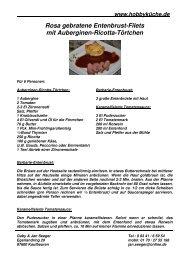 Rosa gebratene Entenbrust-Filets mit Auberginen ... - Janundgaby.de
