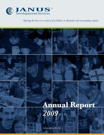 Annual Report 2009 - Janus Developmental Services