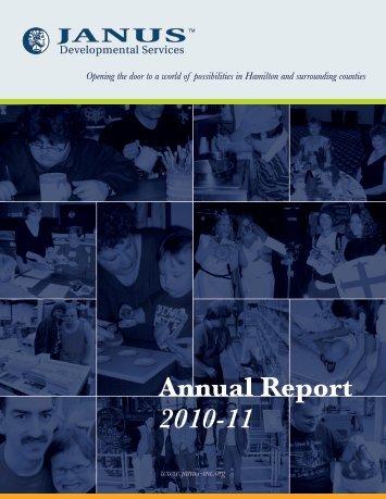 Annual Report 2010-11 - Janus Developmental Services