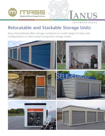 Relocatable and Stackable Storage Units - Janus International