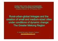 Rural-urban-global linkages