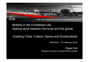 Mobility in the in-between city