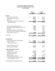 to view the Financial Results - Concurrent Computer Corporation