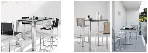 Latona barstool + Trento high dining table re - Jardin-Confort