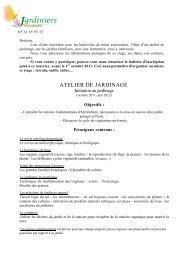 ATELIER DE JARDINAGE - Jardiniers de Tournefeuille