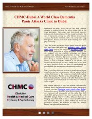 CHMC-Dubai A World Class Dementia Panic Attacks Clinic in Dubai
