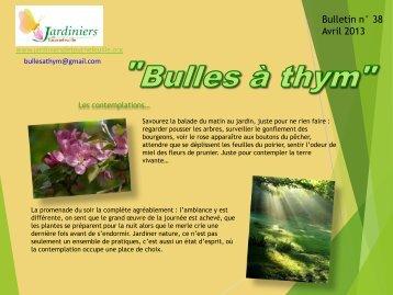 Bulles à thym n°38 - Jardiniers de Tournefeuille